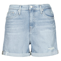 Vêtements Femme Shorts / Bermudas Calvin Klein Jeans MOM SHORT Bleu Clair