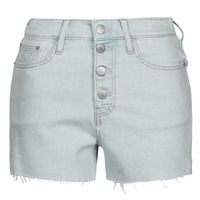 Vêtements Femme Shorts / Bermudas Calvin Klein Jeans HIGH RISE SHORT Bleu Clair