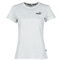 Vêtements Femme T-shirts manches courtes Puma ESS LOGO TEE Gris Chiné