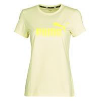Vêtements Femme T-shirts manches courtes Puma ESS Logo Tee (s) Jaune