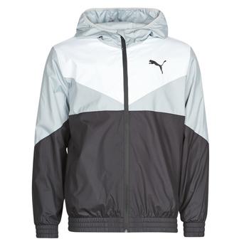 Vêtements Homme Coupes vent Puma ESS+ CB Windbreaker Noir / Blanc / Gris