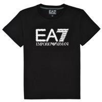 Vêtements Garçon T-shirts manches courtes Emporio Armani EA7 3KBT53-BJ02Z-1200 Noir