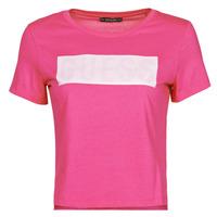 Vêtements Femme T-shirts manches courtes Guess SS CN ADRIA TEE Fuschia