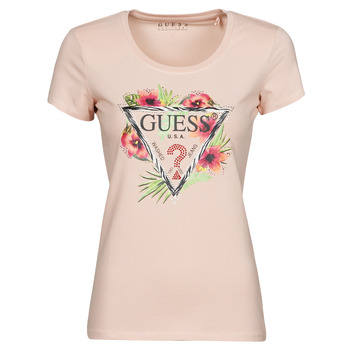Vêtements Femme T-shirts manches courtes Guess SS CN REBECCA TEE Rose