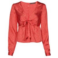 Vêtements Femme Tops / Blouses Guess NEW LS GWEN TOP Rouge / Blanc