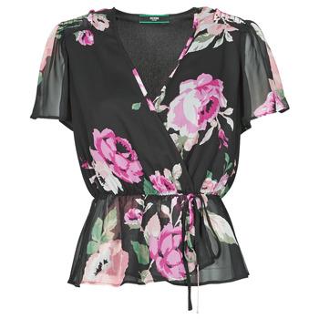 Vêtements Femme Tops / Blouses Guess SS NEREA TOP Noir / Multicolore