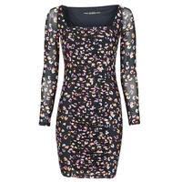Vêtements Femme Robes courtes Guess GAYLE DRESS Noir / Léo