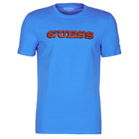 Vêtements Homme T-shirts manches courtes Guess GUESS PROMO CN SS TEE Bleu