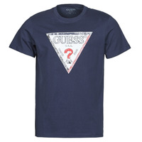 Vêtements Homme T-shirts manches courtes Guess TRIESLEY CN SS TEE Marine
