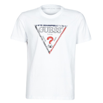 Vêtements Homme T-shirts manches courtes Guess TRIESLEY CN SS TEE Blanc