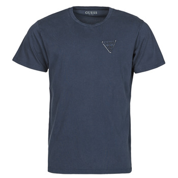 Vêtements Homme T-shirts manches courtes Guess LOGO ORGANIC BASIC CN SS TEE Marine