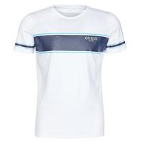 Vêtements Homme T-shirts manches courtes Guess CN SS TEE Blanc / Marine