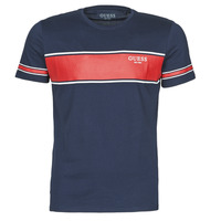 Vêtements Homme T-shirts manches courtes Guess CN SS TEE Marine / Rouge