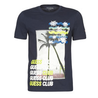 Vêtements Homme T-shirts manches courtes Guess GUESS CLUB CN SS TEE Marine