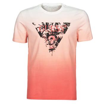 Vêtements Homme T-shirts manches courtes Guess PALM BEACH CN SS TEE Rouge