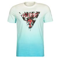 Vêtements Homme T-shirts manches courtes Guess PALM BEACH CN SS TEE Bleu