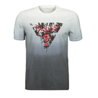 Vêtements Homme T-shirts manches courtes Guess PALM BEACH CN SS TEE Noir