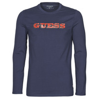 Vêtements Homme T-shirts manches longues Guess GUESS PROMO CN LS TEE Marine