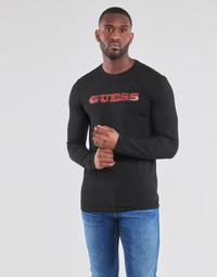 Vêtements Homme T-shirts manches longues Guess GUESS PROMO CN LS TEE Noir