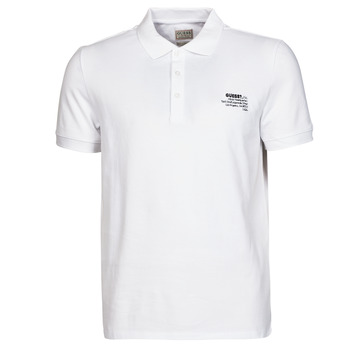 Vêtements Homme Polos manches courtes Guess OZ SS POLO Blanc