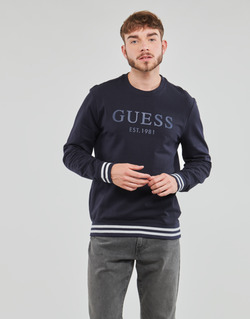 Vêtements Homme Sweats Guess BEAU CN FLEECE Noir