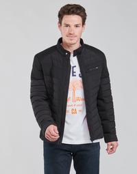 Vêtements Homme Doudounes Guess STRETCH MIXED BIKER Noir
