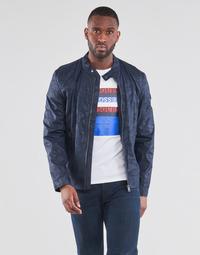Vêtements Homme Blousons Guess STRETCH BIKER Marine Camo