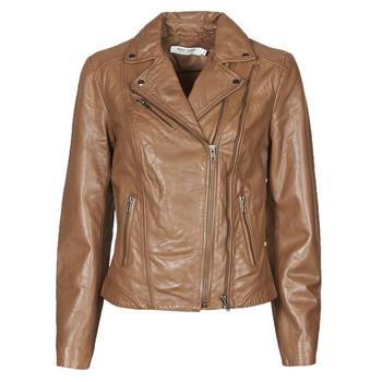 Vêtements Femme Vestes en cuir / synthétiques Naf Naf CAMILLA Cognac