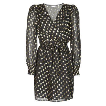 Vêtements Femme Robes courtes Naf Naf DOTSYTA Noir / Doré
