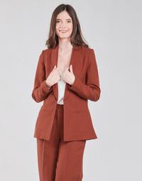 Vêtements Femme Vestes / Blazers Naf Naf LINONOU V2 Terracotta