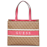 Sacs Femme Cabas / Sacs shopping Guess MONIQUE TOTE Marron / Rose