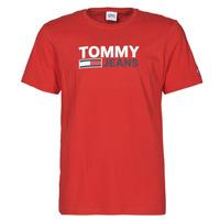 Vêtements Homme T-shirts manches courtes Tommy Jeans TJM CORP LOGO TEE Rouge