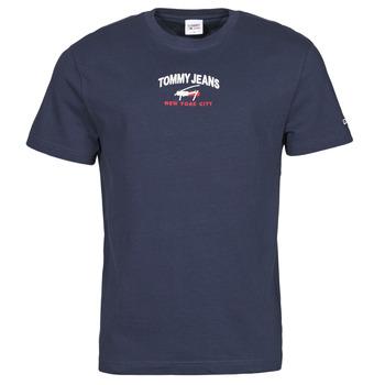 Vêtements Homme T-shirts manches courtes Tommy Jeans TJM TIMELESS TOMMY SCRIPT TEE Marine