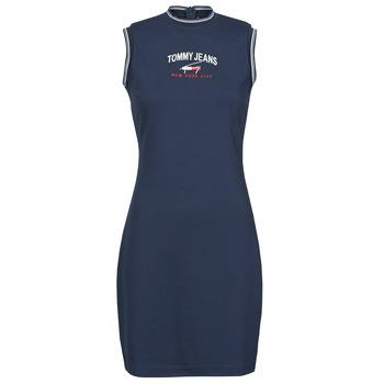 Vêtements Femme Robes courtes Tommy Jeans TJW TIMELESS SCRIPT DRESS Marine