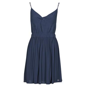 Vêtements Femme Robes courtes Tommy Jeans TJW ESSENTIAL STRAP DRESS Marine