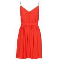 Vêtements Femme Robes courtes Tommy Jeans TJW ESSENTIAL STRAP DRESS Rouge