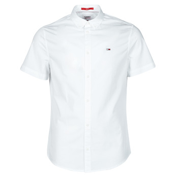 Vêtements Homme Chemises manches courtes Tommy Jeans TJM LIGHTWEIGHT TWILL S/S SHIRT Blanc