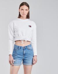 Vêtements Femme Sweats Tommy Jeans TJW SUPER CROPPED BADGE CREW Blanc