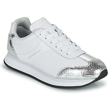 Chaussures Femme Baskets basses Calvin Klein Jeans RUNNER LACEUP TRN-PYT PES Blanc / Argent