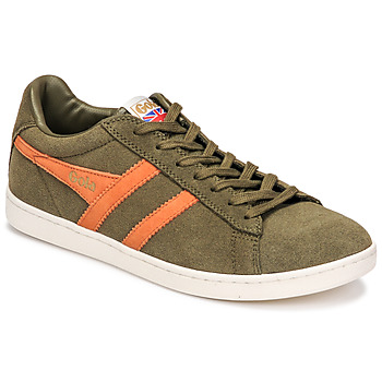 Chaussures Homme Baskets basses Gola EQUIPE SUEDE Kaki / Orange