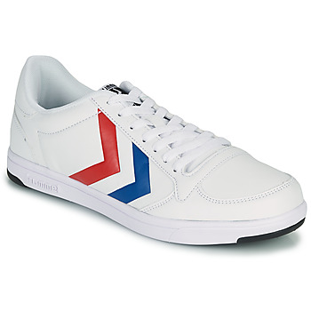 Chaussures Homme Baskets basses Hummel STADIL LIGHT Blanc / Bleu / Rouge