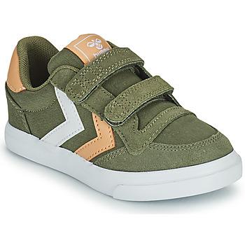 Chaussures Enfant Baskets basses Hummel STADIL LOW JR Vert