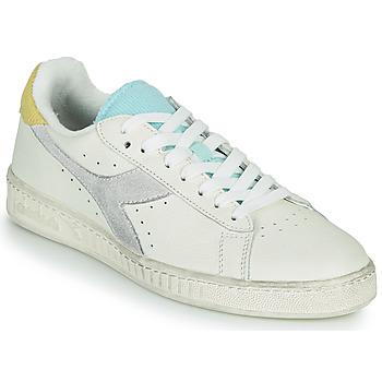 Chaussures Femme Baskets basses Diadora GAME L LOW ICONA WN Blanc / Bleu