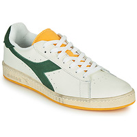 Chaussures Homme Baskets basses Diadora GAME L LOW ICONA Blanc / Vert / Jaune