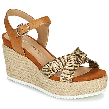 Chaussures Femme Sandales et Nu-pieds Karston LABON Marron / Doré