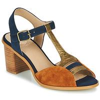 Chaussures Femme Sandales et Nu-pieds Karston LILIAN Marron / Marine