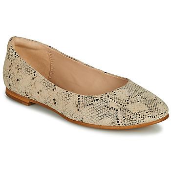 Chaussures Femme Ballerines / babies Clarks GRACE PIPER Beige / Python