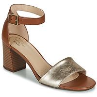 Chaussures Femme Sandales et Nu-pieds Clarks JOCELYNNE CAM Marron / Argent