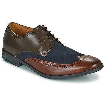 Chaussures Homme Derbies Clarks STANFORD LIMIT Marron / Bleu