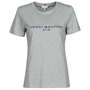 Vêtements Femme T-shirts manches courtes Tommy Hilfiger TH ESS HILFIGER C-NK REG TEE SS Gris